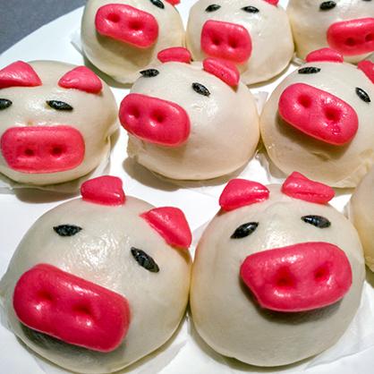 開心小豬包(芋泥餡)/包 [L006]