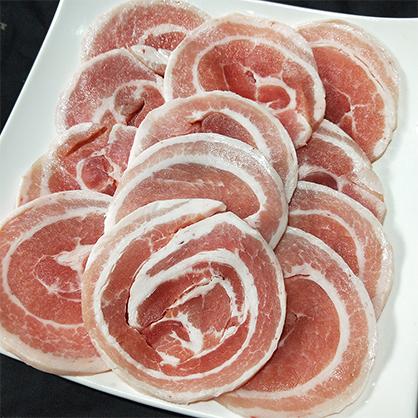 (圓)豬五花燒肉片500g/包(約0.5cm) [A023 ]