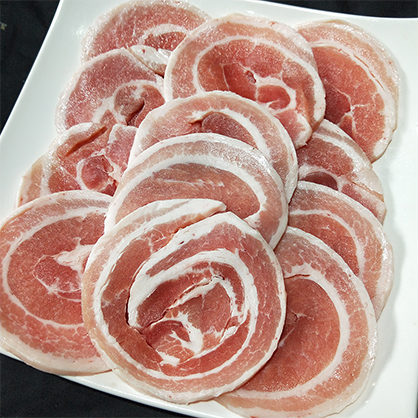 A023 (圓)豬五花燒肉片500g(包)(約0.5cm)