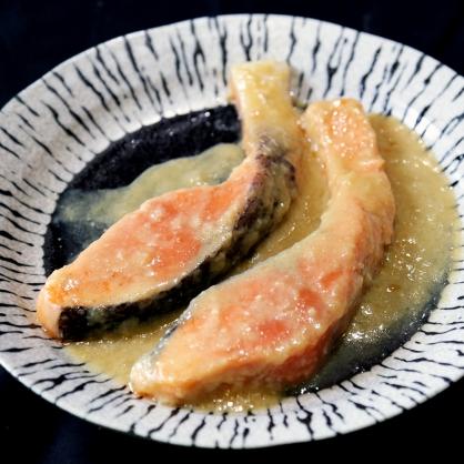 味噌風味鮭魚切片/盒 [I031]