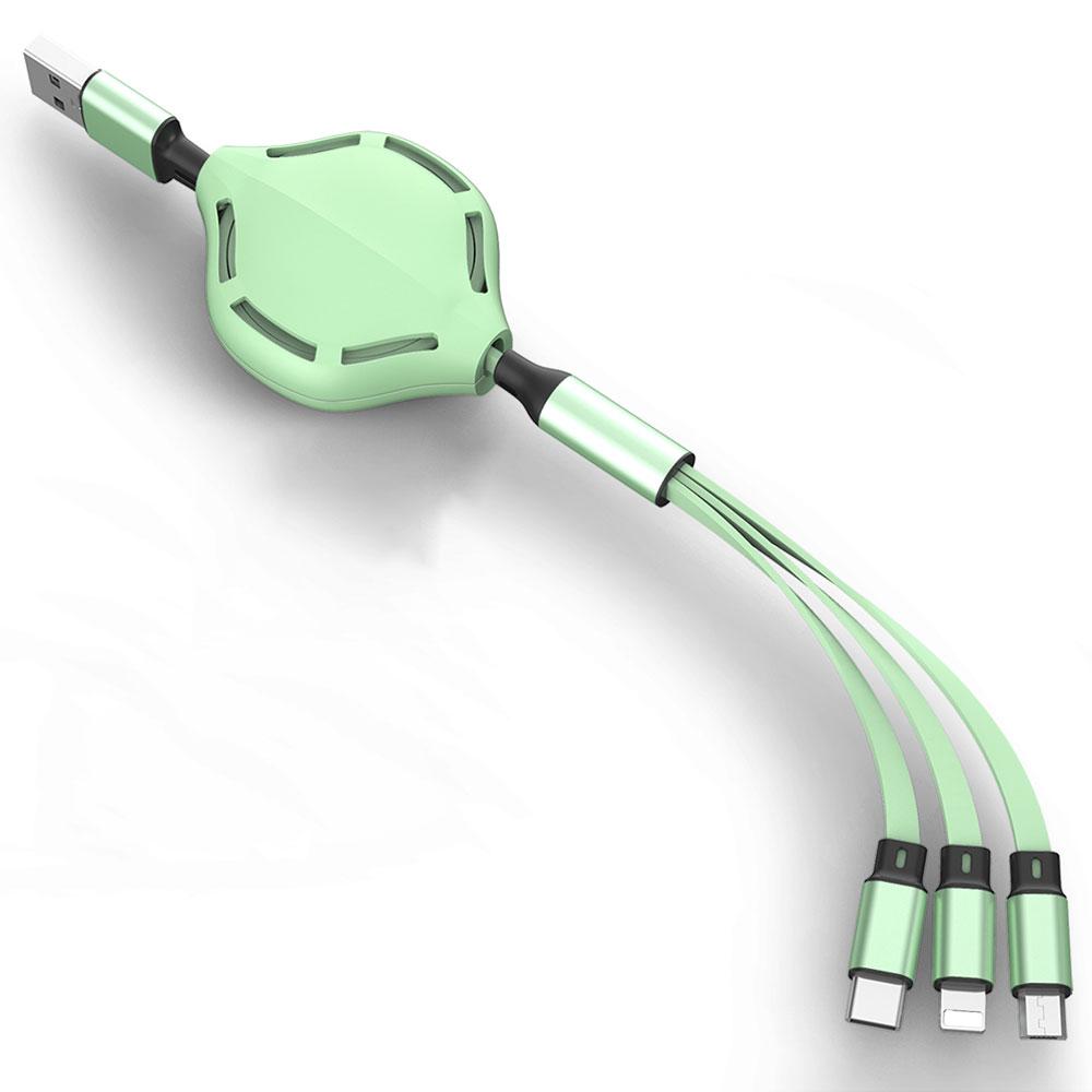 三合一Apple/Android/TypeC伸縮快速充電線