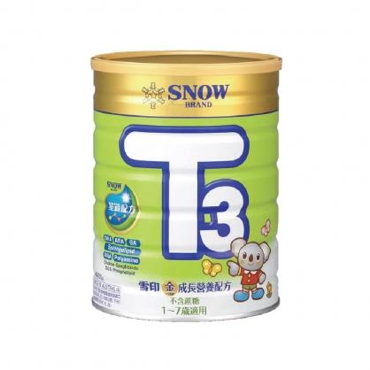 雪印金T3成長營養配方奶粉900g