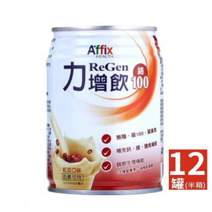 力增飲鉻100(紅豆)-237ml X12入(半箱)