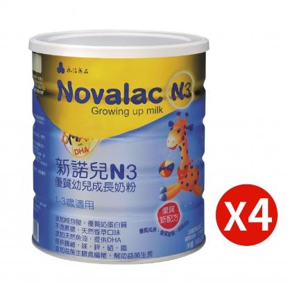 新諾兒N3優質幼兒成長奶粉800g X 4罐