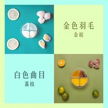 【調酒配方膠囊雙拼組合】 內含 _ 荔枝3入+金桔3入