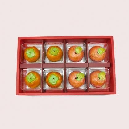 柿柿蘋安綠豆椪8入禮盒