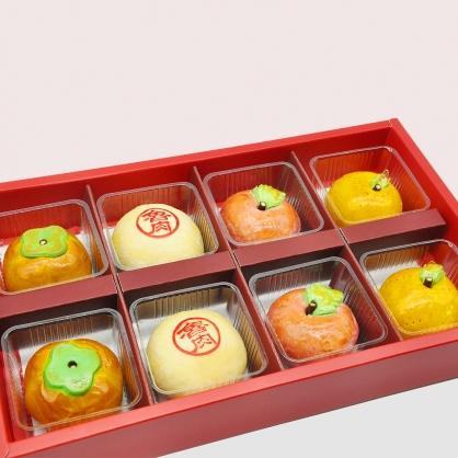 蘋安柿福賺大桔綠豆椪8入禮盒