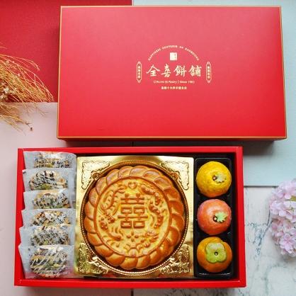 一斤大餅戀上西式喜餅創意綠豆椪組|手工中式漢餅系列